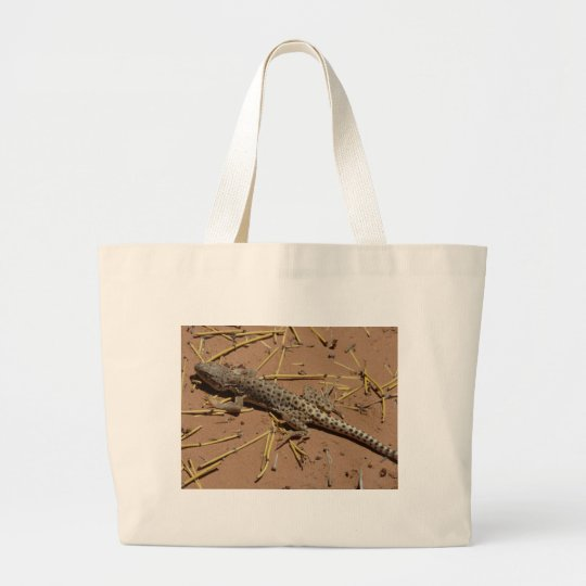 desert lizard large tote bag