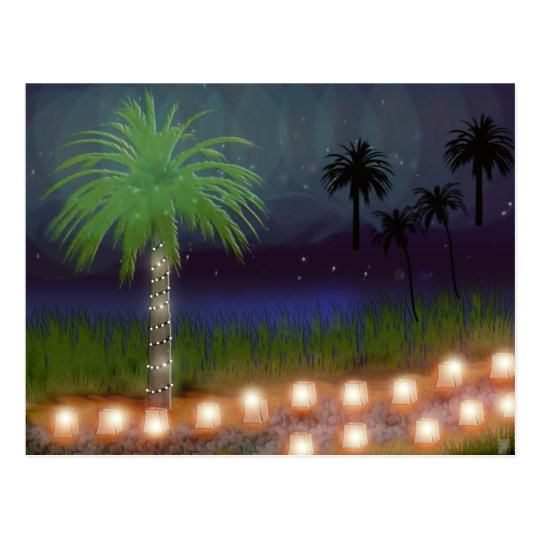 desert luminaria postcard