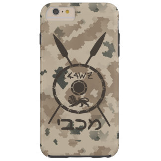 Desert Maccabee Shield And Spears Tough iPhone 6 Plus Case