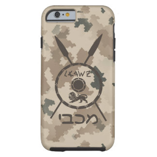 Desert Maccabee Shield And Spears Tough iPhone 6 Case
