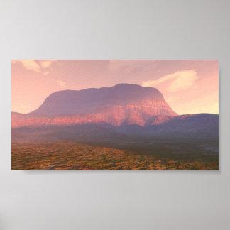 Desert Meadow Sunrise Poster