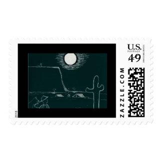 Desert moon stamp