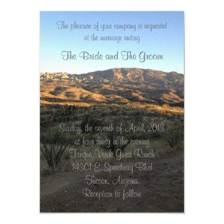 Desert Mountain Landscape wedding invitation
