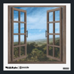 "Desert Mountain Window Frame Wall Graphic<br><div class=""desc"">Peel and stick framed wall window.</div>"