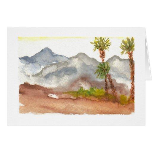 Desert Mountains Card