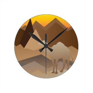 Desert Mountains.jpg Round Clock