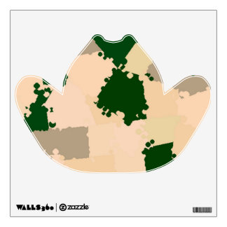 Desert Oasis Camo Custom Wall Decal