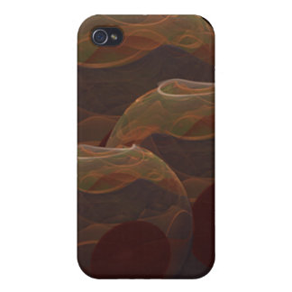 Desert Oasis Fractal Pottery Abstract Art iPhone 4 Covers