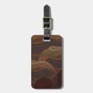 Desert Oasis Fractal Pottery Abstract Art Tags For Luggage
