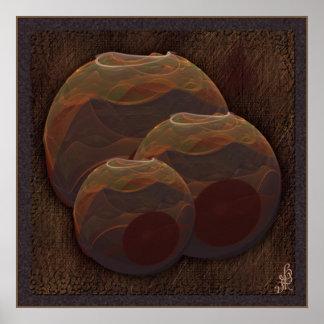 Desert Oasis Fractal Pottery Abstract Art Poster