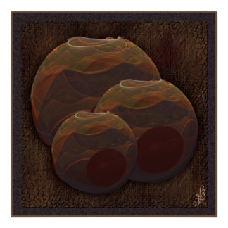 Desert Oasis Fractal Pottery Abstract Art Posters
