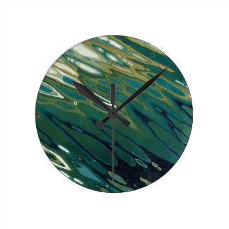 Desert Oasis Round Clock by Margaret Juul