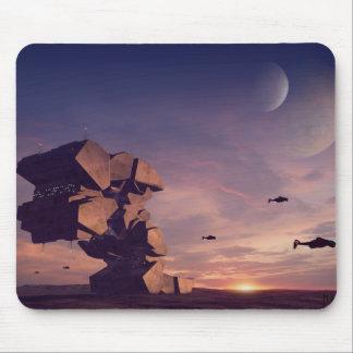 Desert outpost - Sci-Fi mousepad