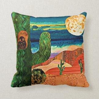 Desert Owl Throw Pillow