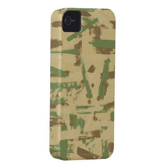 Desert Paint Stroke Camouflage iPhone 4 Case
