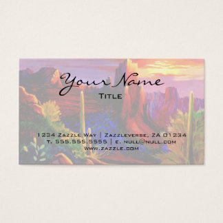 Desert Painted by Sunset Business Card
