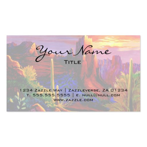 Desert Painted by Sunset Business Cards