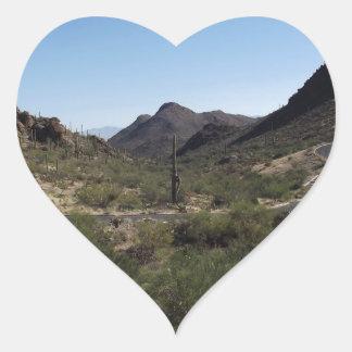 Desert Pass Heart Sticker