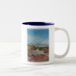'Desert Path' Two-Tone Coffee Mug