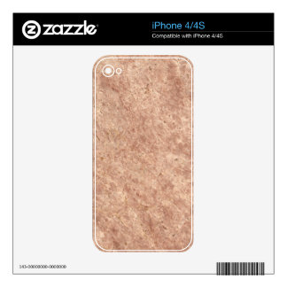 Desert Pink Stone Pattern Background Skin For iPhone 4S
