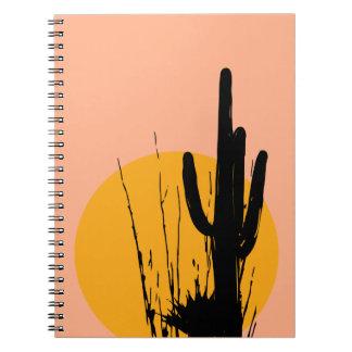 """Desert Plants Silhouette"" (Notebook)"