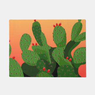 Desert Prickly Pear Sunset Doormat