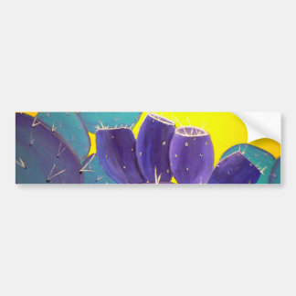 Desert Prickly Pear with Fruit Bumper Sticker