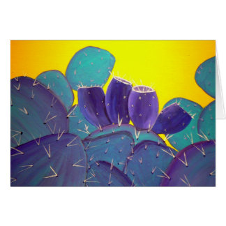 Desert Prickly Pear with Fruit Card