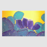 Desert Prickly Pear with Fruit Rectangle Stickers