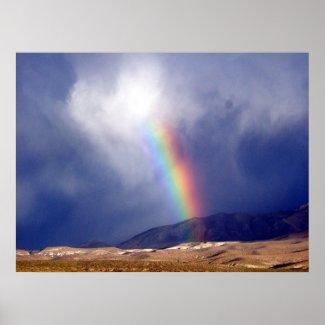 desert rainbow print