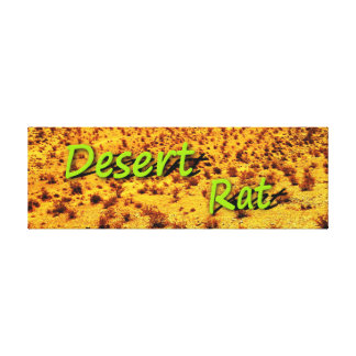 DESERT RAT CANVAS PRINT