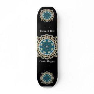 Desert Rate Skateboard with Saguaro Mandala skateboard