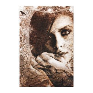 Desert Raven Stretched Canvas Prints