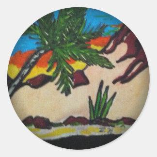 Desert Realms Classic Round Sticker