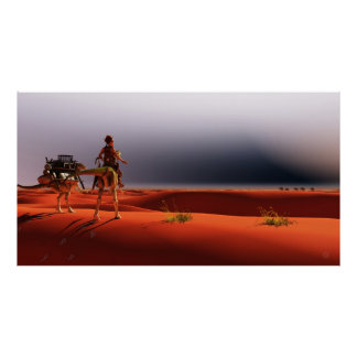 Desert Rider on the Sands of Time, Joseph Maas Poster
