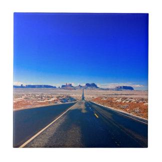 Desert Road to Monument Valley Photo Ceramic Tile