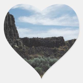 Desert Rock Buttes Heart Sticker