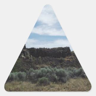 Desert Rock Buttes Triangle Sticker