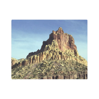 Desert Rock Mountain Summit Metal Photo Print