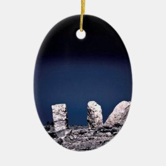 Desert rocks ceramic ornament