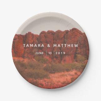 Desert Rocks Paper Plate