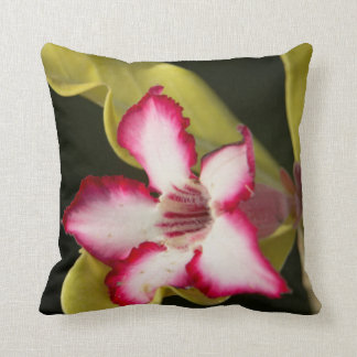 Desert-Rose (Adenium Obesum), South Africa Throw Pillow