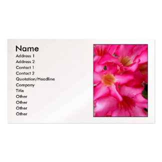 Desert Rose Double-Sided Standard Business Cards (Pack Of 100)