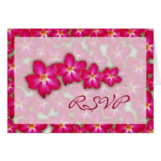 Desert Rose Collage Wedding RSVP Card