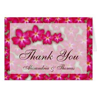 Desert Rose Collage Wedding Thank You Card