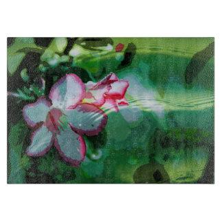 Desert Rose Flower in the Water design Cutting Board
