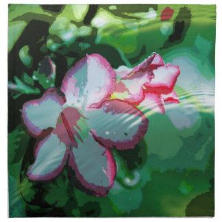 Desert Rose Flower in the Water design Napkin