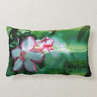 Desert Rose Flower in the Water design Pillows