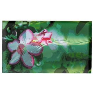 Desert Rose Flower in the Water design Table Card Holders