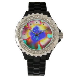 Desert Rose Flower Watercolor Wrist Watch